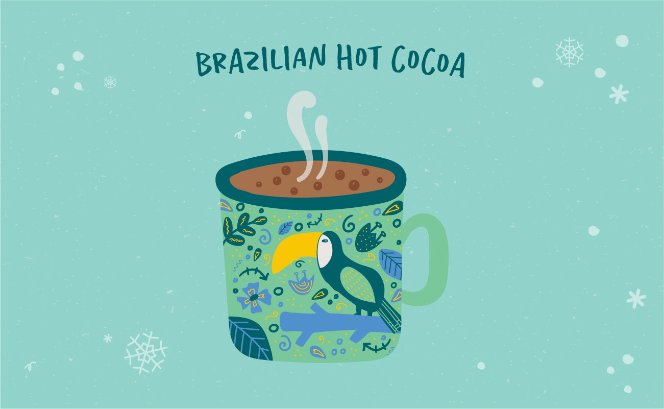 Illustrated graphic of Brazilian hot chocolate