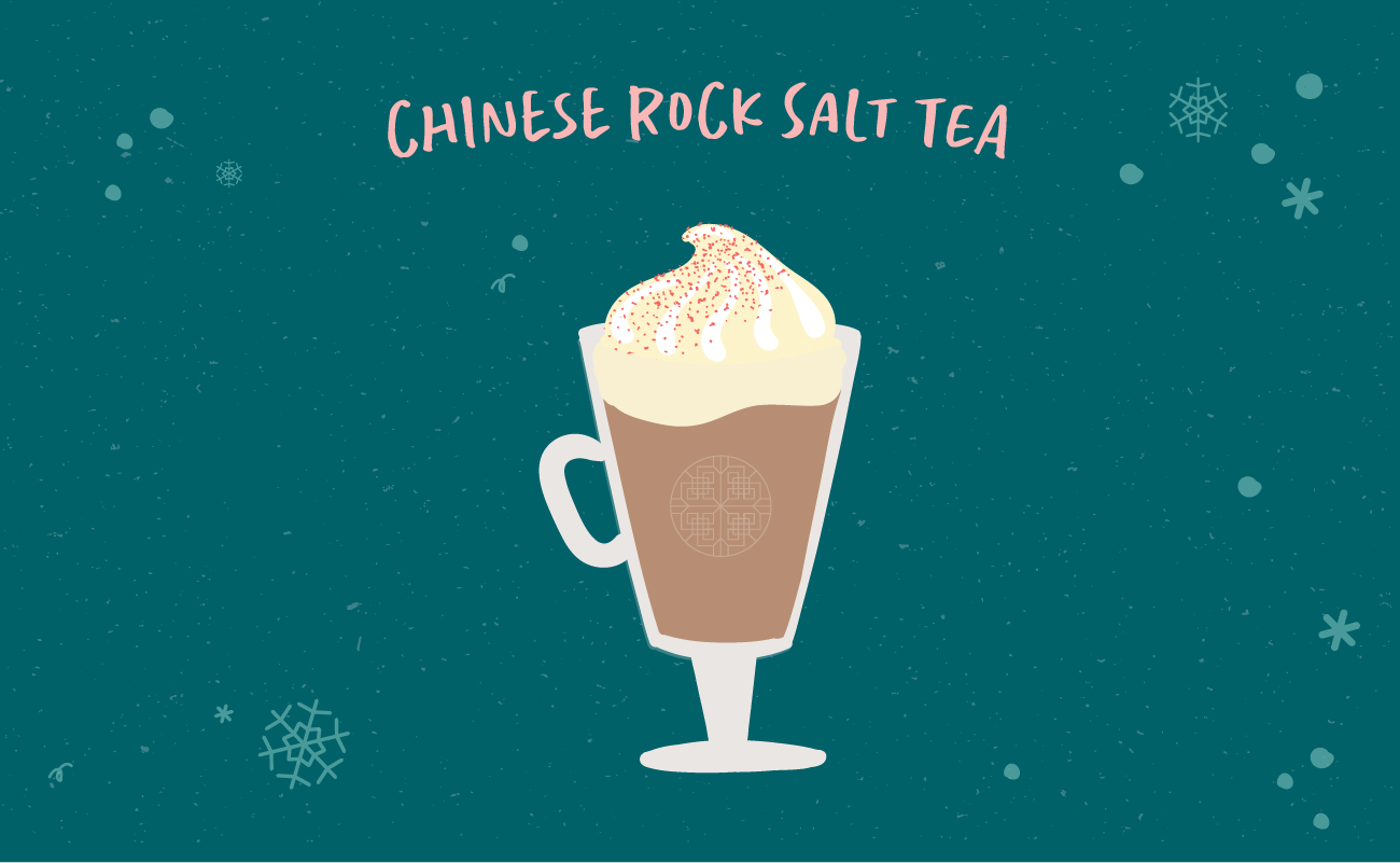 Illustrated graphic of Chinese Rock Salt Tea