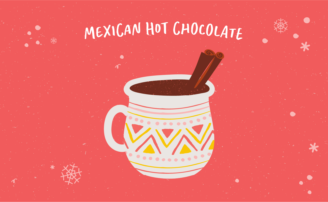 Illustrated graphic of Mexican hot chocolate