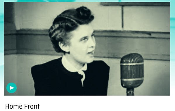 Image of a women talking about the home front from ww2