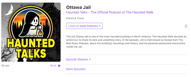 Ottawa Jail haunted walks