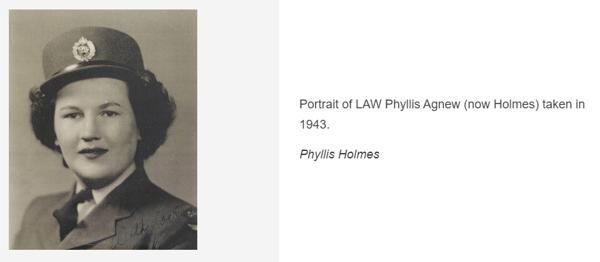 portrait of Phyllis holmes ww2 air force veteran