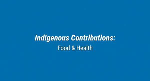 indigenous food contributions