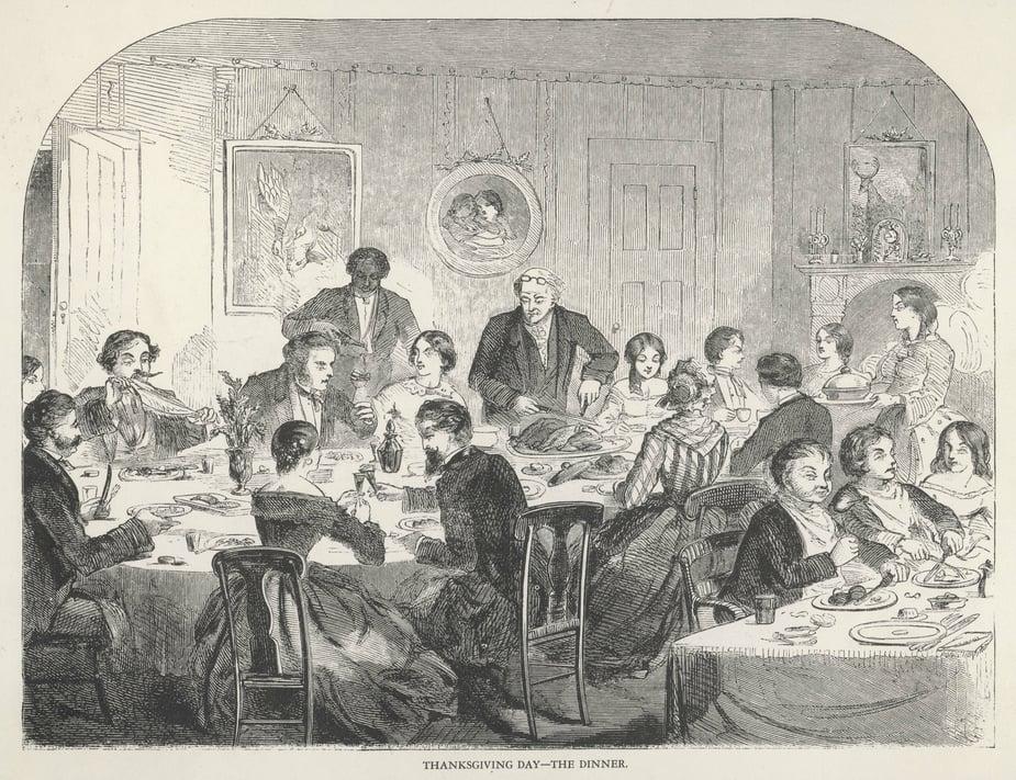 Thanksgiving dinner 1858