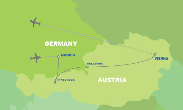 Germany & Austria: European Student Music Trip map