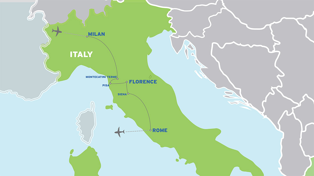 Italy: Student Orchestra Music Tour map