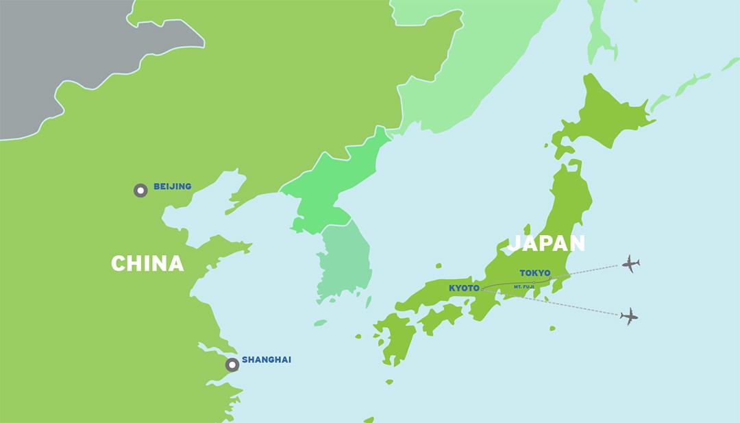 Japan: Pacific Island Tour map