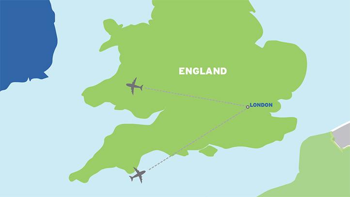 London: Economical England Student Tour map