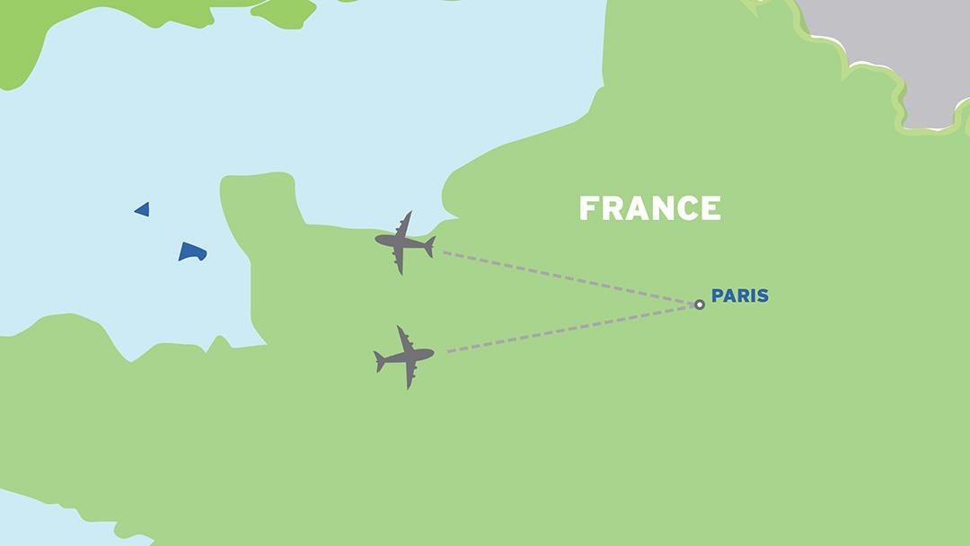 Paris: European Student Trip map