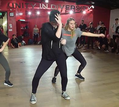 dancer performing at Millenium dance complex in Los Angeles